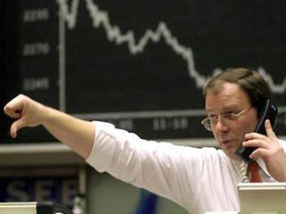 Падение индексов фондовых бирж Евросоюза