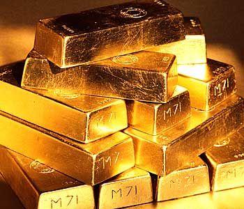 Россия собирает золотые слитки