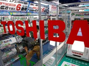 Обвал курса акций компании Toshiba