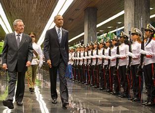 Встреча Обамы и Кастро на Кубе