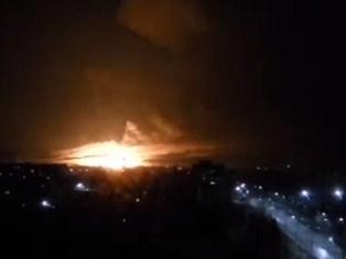 Под Харьковом горит арсенал