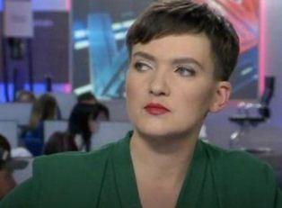 Савченко на ТВ с модным макияжем